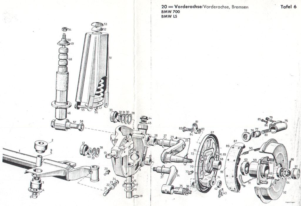 Isetta Philipp Sch 228 Per Bmw 700 Vorderachse